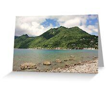 a desolate Dominica landscape Greeting Card
