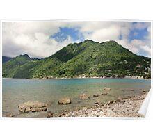 a desolate Dominica landscape Poster