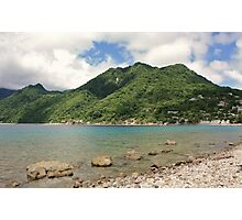 a desolate Dominica landscape Photographic Print