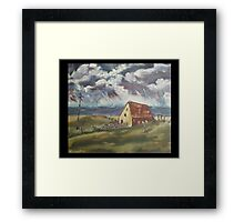 Fisherman's Cottage by Peter the Red Framed Print