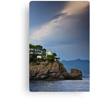 Portofino Lighthouse Canvas Print