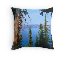 View From the Caldera Throw Pillow