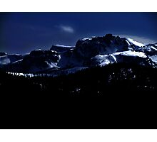 Moonlit Mountains Photographic Print