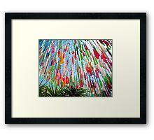 Coloured Ribbons Framed Print