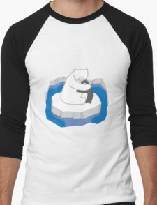 Polar Bear Hug Men's Baseball ¾ T-Shirt