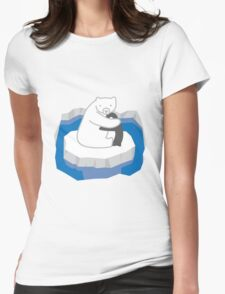 Polar Bear Hug Womens Fitted T-Shirt