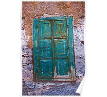 Green Door, Patmos, Greece Poster