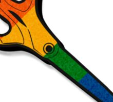 Rainbow Scissors Icon Sticker