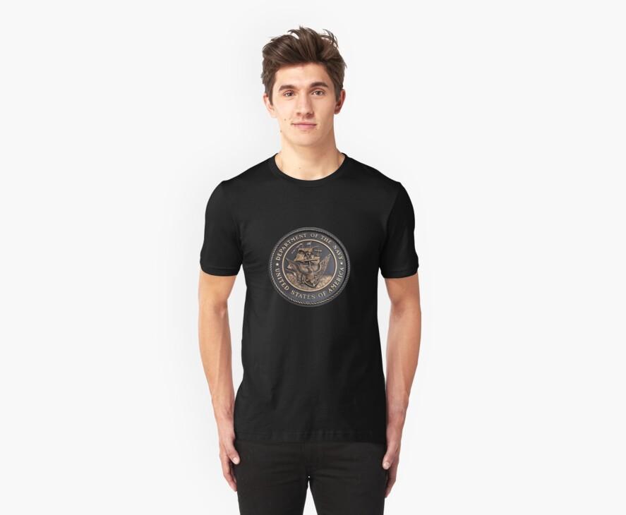 US Navy Emblem T-Shirt by Karl R. Martin
