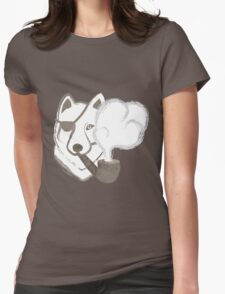 Smoking Wolf Womens Fitted T-Shirt