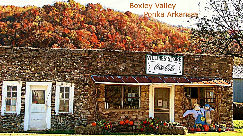 Villines Country Store Ponka Valley by NatureGreeting Cards ©ccwri