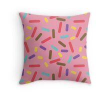 Pink Donut Sprinkles Throw Pillow