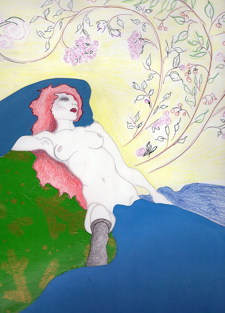 reclining nude by Lael Woodham