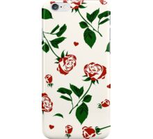 Simple Pattern of Roses and Hearts iPhone Case/Skin