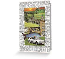 house, fish, car (sunset) card Greeting Card
