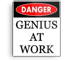 Danger - Genius at work Metal Print