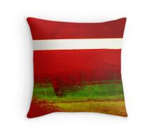 Abstract Boats- 01 Red - Green Throw Pillow