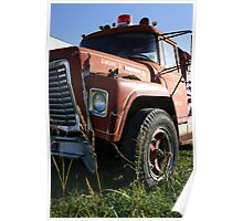 Fire Truck Grill Poster