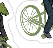 Cycling Rabite and Croco Sticker