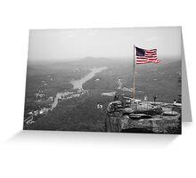 Chimney Rock Flag Greeting Card