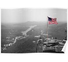 Chimney Rock Flag Poster