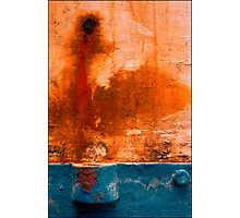 Abstract Boats- 11'  Rust-Blue' Photographic Print