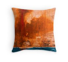 Abstract Boats- 11'  Rust-Blue' Throw Pillow