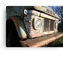 Green Truck Front Bumper Canvas Print