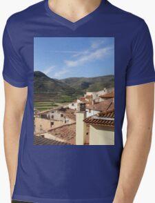 a historic Andorra landscape Mens V-Neck T-Shirt