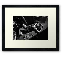 Lounging with the Ouija board Framed Print