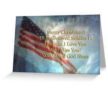 Merry Christmas to Beloved Soldier Greeting Card