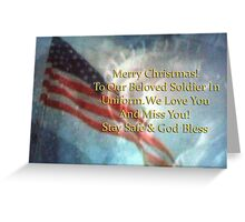 Merry Christmas to Beloved Soldier #2 Greeting Card