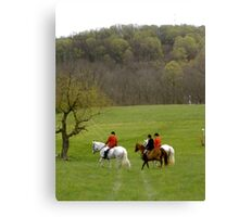 Time for the Steeple Chase Canvas Print