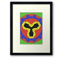 Modern colorful abstract pattern Framed Print