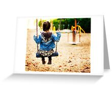 silence in the swing Greeting Card