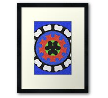 Modern abstract colorful pattern Framed Print