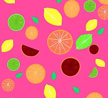 Colorful citrus background (Pink) by GottyKoby