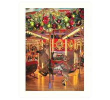 Carousel Reindeer Art Print