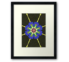 Modern abstract many color pattern Framed Print