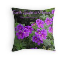 The Earth Laughs in Flowers (country garden card #6) Throw Pillow