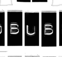I AM A REDBUBBLE WIDOW Sticker