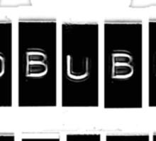 I AM A REDBUBBLE WIDOWER Sticker