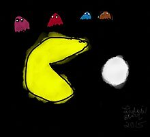 Pac-Man and the Ghosts  by LadyStarr
