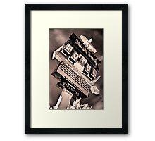 High Surf Motel Framed Print