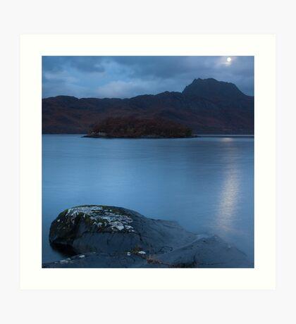 Torridon moonlight, Scotland Art Print