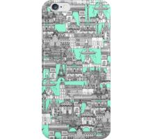 Paris toile aquamarine iPhone Case/Skin