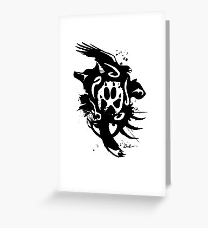 :: Tribal Fur :: Greeting Card