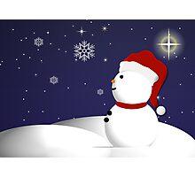 Wonder of Snowman Photographic Print