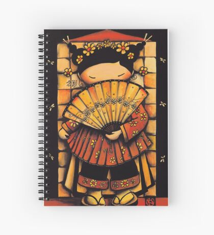 Chinese Red Fan Girl Spiral Notebook