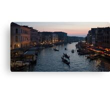 Grand Canal On Sunset Canvas Print